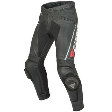 Dainese Delta Pro C2 Leather Mens Race Motorcycle Motorbike Trousers Pants Black